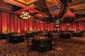 Dallas-Wedding-Draping-Lighting, Randy Ro Entertainment, Crystal curtains, Black Draping, Black Swag.jpg